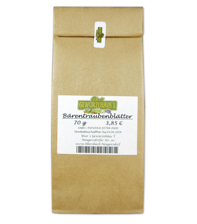 Bärentraubenblätter geschnitten 70 g getrocknet Uvae ursi folium