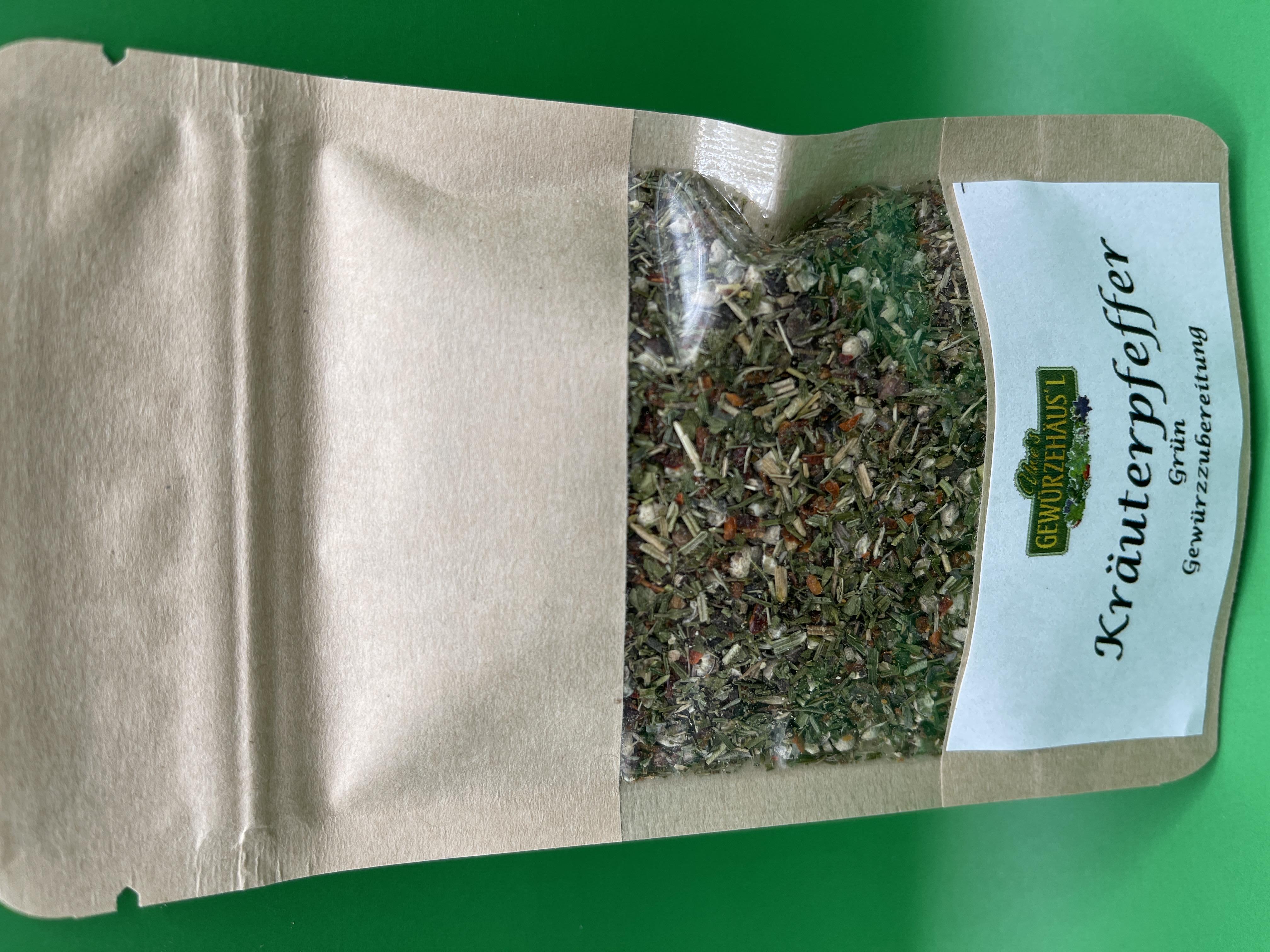 Kräuterpfeffer Grün grob 30g Gewürzmischung
