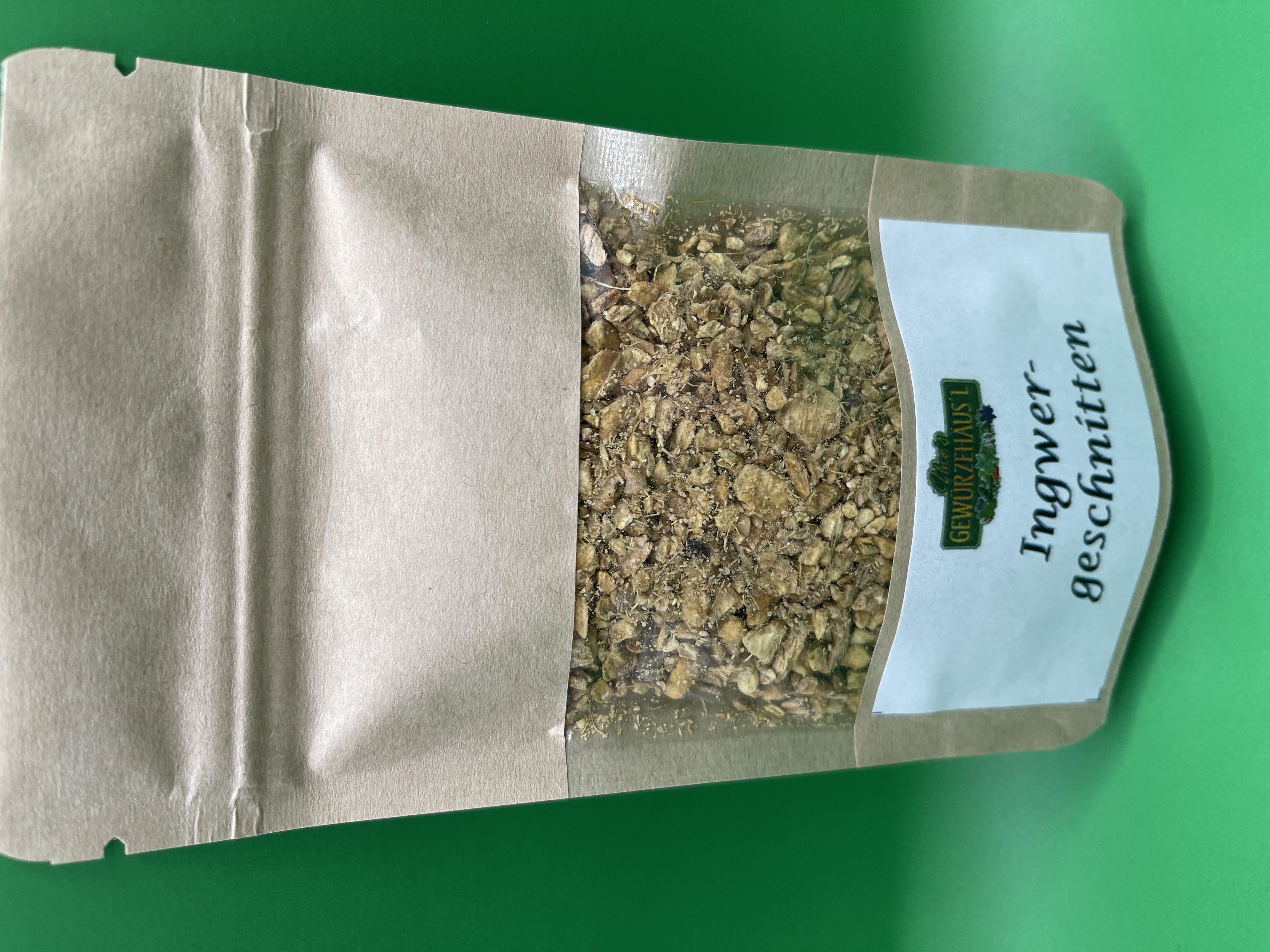 Ingwer geschnitten Wurzel 30g Gewürz Tee