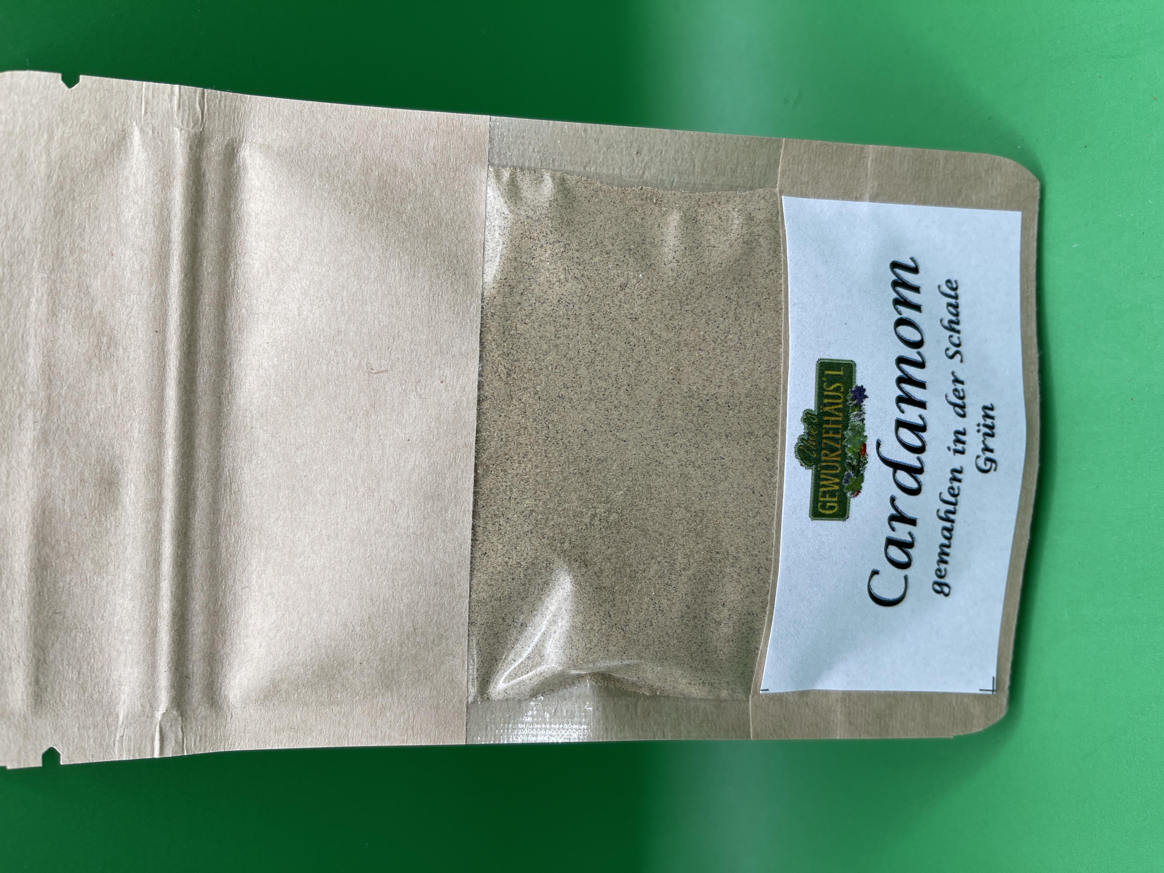 Cardamom gemahlen in der Schale grün 25 g