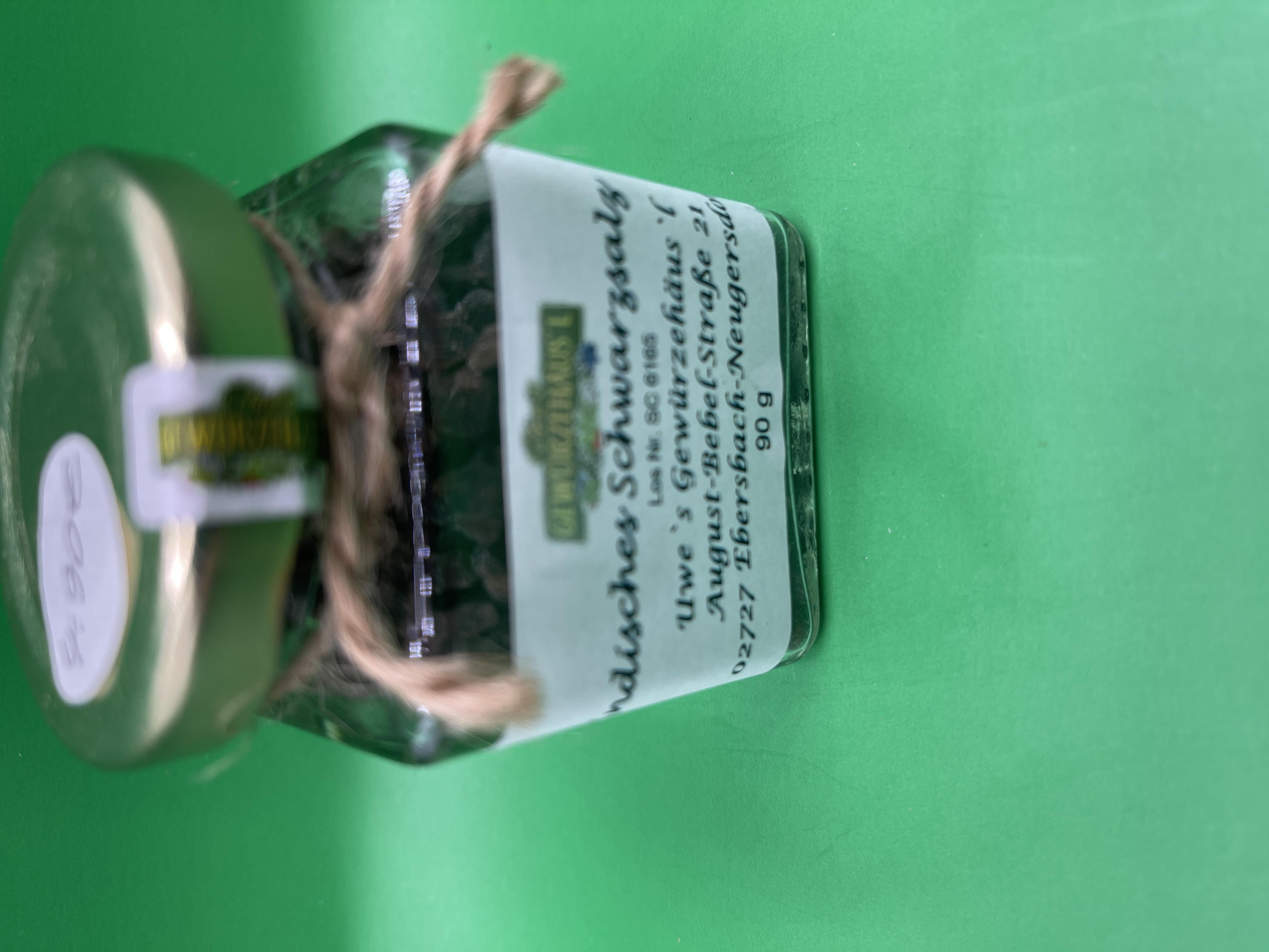 Indisches Schwarzsalz 90g grob im Glas